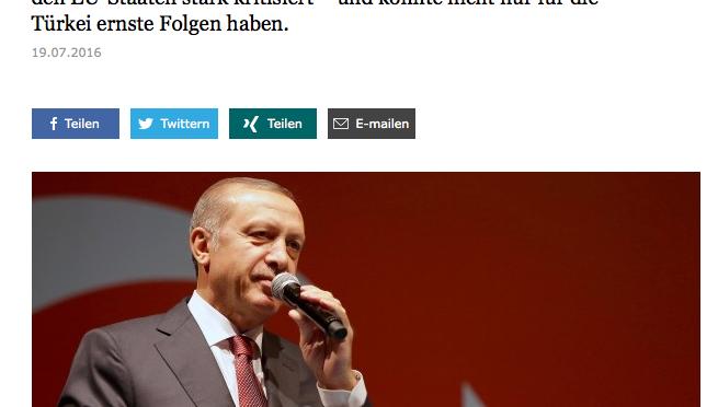 Falsche NATO-Strategie führt zu mehr Macht für Erdogan