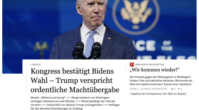 Kommentar zur Stürmung des Kapitols in Washington